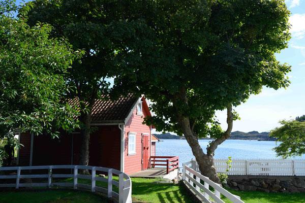 schmucke Häuschen an der Südküste Norwegens