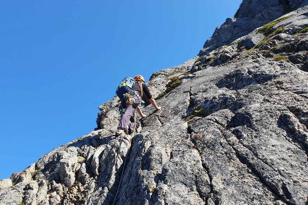 gar nicht so schwere Kletterei
