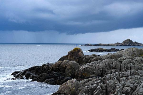 Zerklüftete Küste am Kap Lindesnes