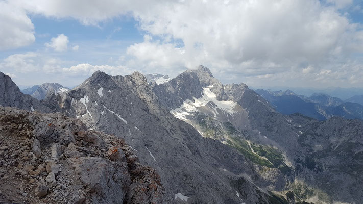 Blick zur Zugspitze und dem Jubiläumsgrat