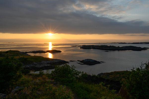 Sonnenuntergang auf der Insel Håholmen