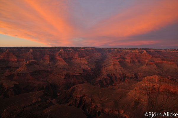 Sonnenuntergang 2, Grand Canyon, USA