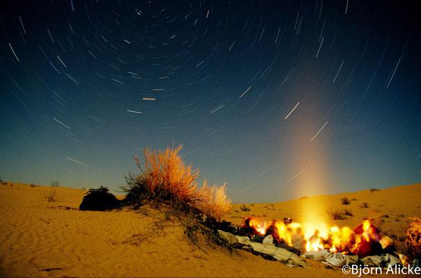 Sternenhimmel in der Sahara