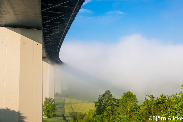Brücke im Nebel, Jagsthausen