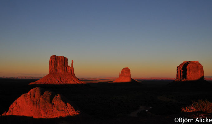 Sonnenuntergang, Monument Valley, USA