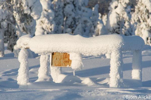 versteckt im Schnee, Finnland