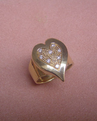 Etincelles d'amour - Bague or et diamants