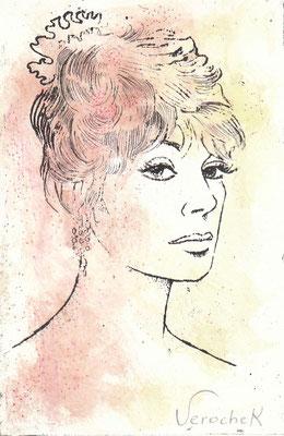 Auto-portrait - Gravure - 20 x 30 cm