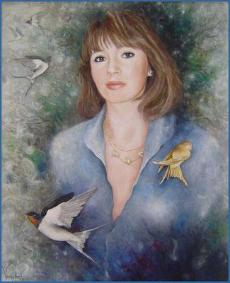 Portrait de Constance Berger - Huile sur toile - 73 x 60 cm