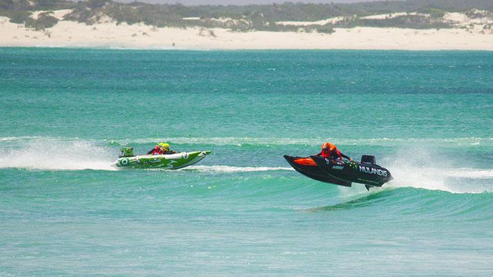 Motorboot Rennen in Kapstadt