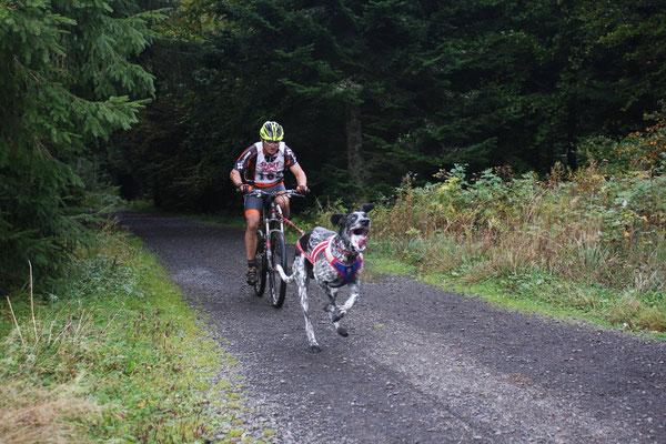 Yves en bike-joring