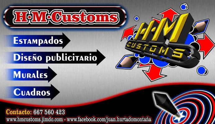 Tarjetas H·M·Customs, diseño creado por HMC