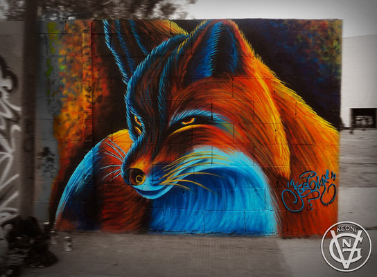 Red Fox, Concurso Sprai II, Villareal, Spain, 2014.