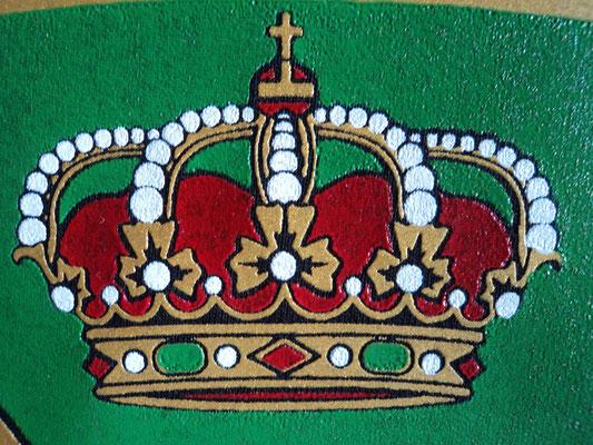 Corona escudo guradia civil (Detalle calidad de estampado)