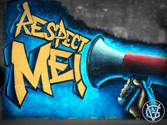 Respect Me!, Mural para el Videoclip de Lara Taylor, Respect Me!, Spain, 2016.