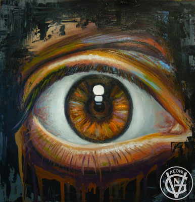 Esudio de ojo, Serie de cuadros sobre la expresividad de zonas corporales.