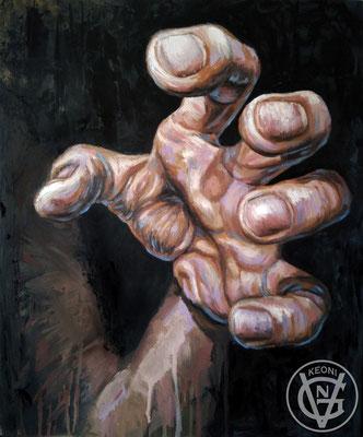 Esudio de mano #1, Serie de cuadros sobre la expresividad de zonas corporales.