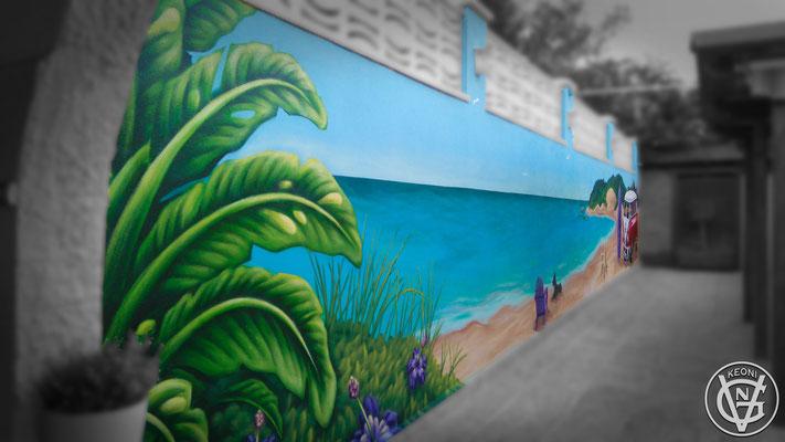 Mural Chalet, La Eliana, Spain, 2017.