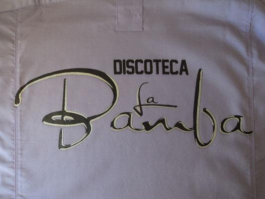 Camisa para La Bamba (Espalda) logo en negro y plata