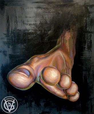 Esudio de pie, Serie de cuadros sobre la expresividad de zonas corporales.