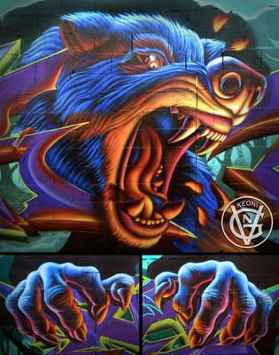 Mi aportación al mural junto a mi compañero de Grow Up Crew Elrond, Valencia, Spain, 2017.