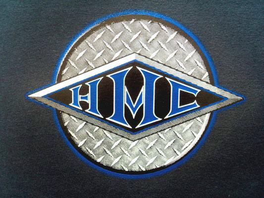 Camiseta con Diseño de H·M·Customs Nuevo LOGO con efecto fotografico.