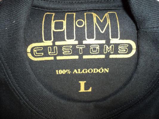 Marquilla de la camiseta Guardia Civil Logo antigua de H·M·Customs (Detalle)