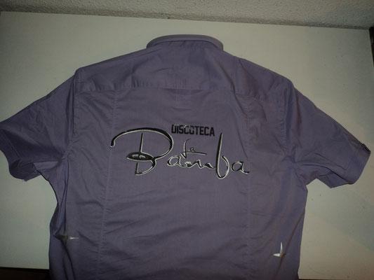Camisa para La Bamba (Espalda) logo negro y plata