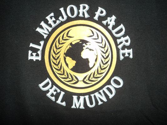 Camiseta con diseño personalizado para el dia del padre (Detalle)