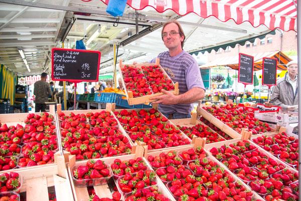 Sahin Temiz: Hier erwartet die Marktbesucher eine Fülle an frischem Obst und Gemüse.