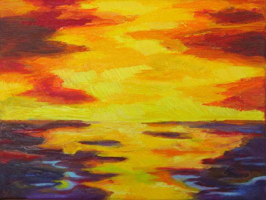 There is light 2   Öl auf Leinwand         30 x 40 cm