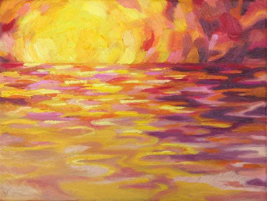 There is light 3   Öl auf Leinwand         30 x 40 cm