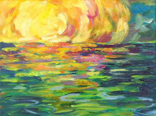Licht-Einfall        Öl auf Leinwand         30 x 40 cm