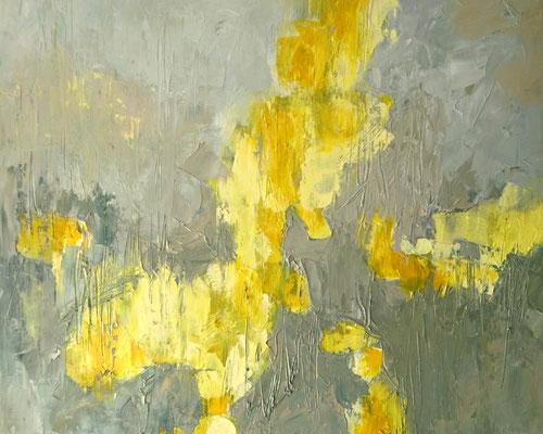 """2019 """"Und er sah, dass das Licht gut war"""", Öl auf Leinwand, 50 x 60 cm"""