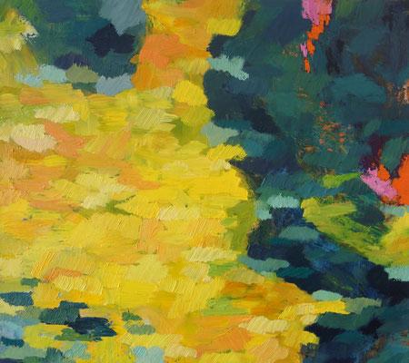 2019    Gelbe Fläche  Ölfarbe auf Baumwolle    80 x 90 cm