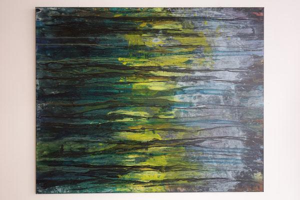 """""""Vom Dunklen, vom Hellen 6"""" 120 x 160 cm  Acrylfarbe auf Leinwand"""