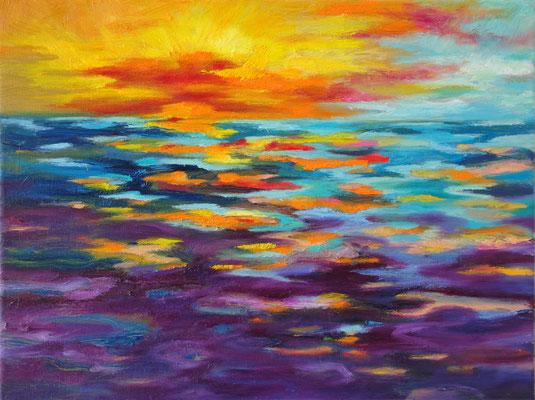 There is light 1     Öl auf Leinwand         30 x 40 cm