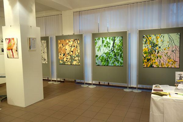 Bild 2 bis 4 der Birkenäste-Reihe   je 100 x 100 cm  Acrylfarbe auf Leinwand
