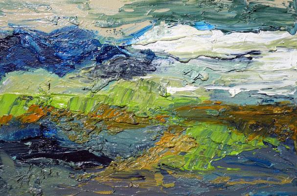 2019  Landschaft  Öl auf Malkarton  20 x 30 cm