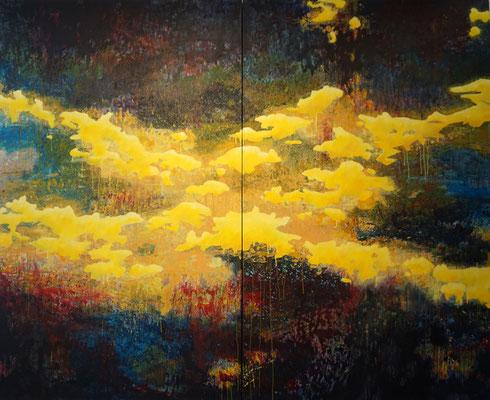 """""""Vom Hellen, vom Dunklen 2""""   2-teilig      200 x 250 cm   Acryl auf Leinwand"""