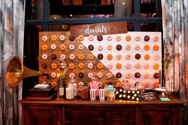 Donut wall huwelijk