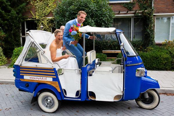 Trouwvervoer tuktuk