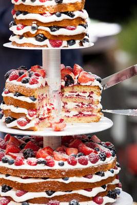 Bruidstaart naked cake