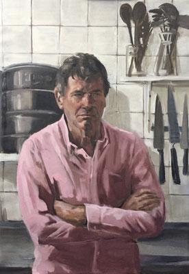 Kees. oil on canvas 100x70cm by Philine van der Vegte
