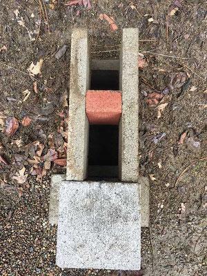 コンクリートブロック・ロケットストーブ