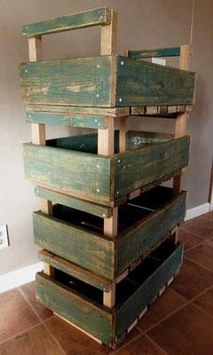 エイドリンの仕上げた保存箱は自宅でキャスターの追加を待つばかり。Photo by Adrienne Corticelli