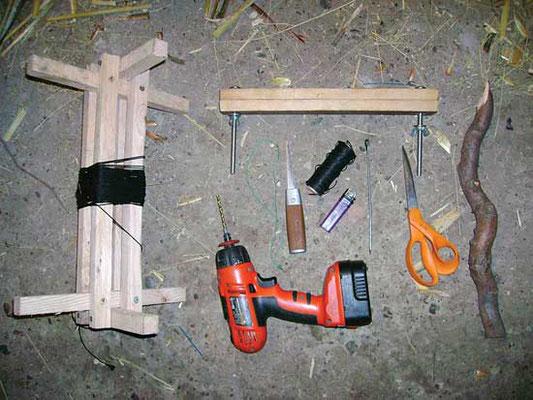 箒を自分で作るのにたいして道具は必要ない。