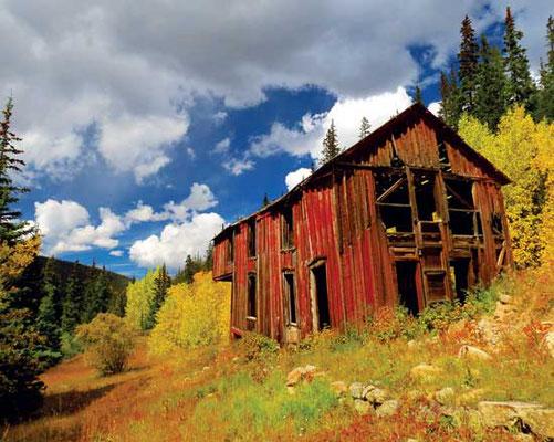 コロラド州ベイカーヴィルの宿泊所。1930年代に銀鉱夫たちが居住。