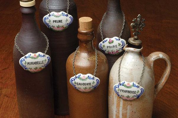 ヨーロッパの伝統で、異なる種類の果物から出来た eau de vie は異なる名前が付いている:poire は洋梨、framboise はラズベリーで、mirabelle はプラムから出来る。