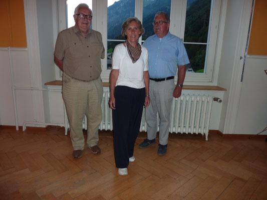 Der neue Vorstand, v. li. Fridolin Marti, Maya Kobi, Fridolin Baumgartner
